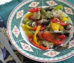 Steamed fish with stir fry veggies
