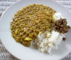 Curry lentil peas and rice