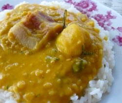 Split Peas and Rice with Pigtail