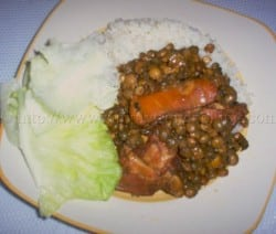 Stew Pigeon peas and rice