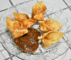 curry chickne wontons