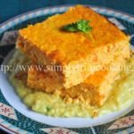 Carrot Cauliflower Loaf with Apple Curry Sauce