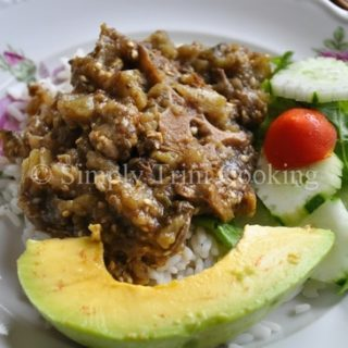 Stew Oxtail and Melongene Eggplant
